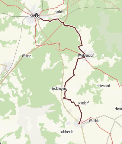 Karte / Via Romea: Soltau - Bergen