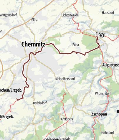 Karte / Sächsischer Jakobsweg: Flöha - Klaffenbach
