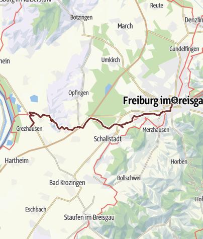 Freiburg Karte Stadtteile.Burgunderweg Freiburg Grezhausen Pilgerweg Outdooractive Com