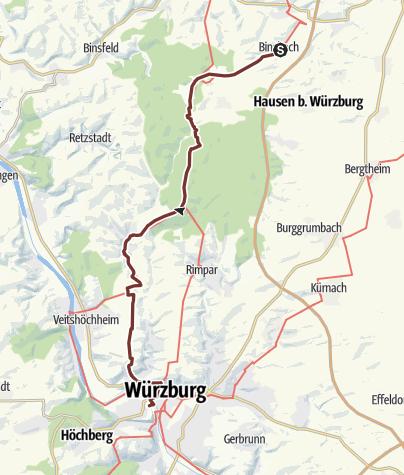 Jakobsweg Franken Karte.Jakobsweg Vacha Fulda Würzburg Etappe 10 Binsbach Würzburg