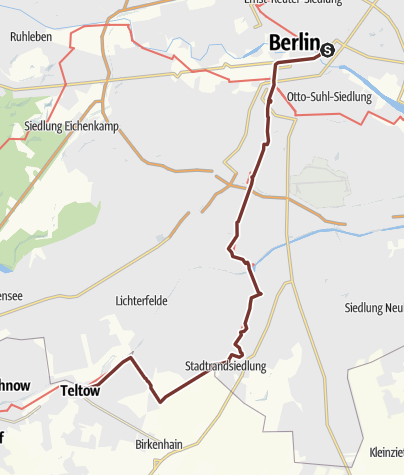 Karte / Via Imperii: Berlin - Teltow