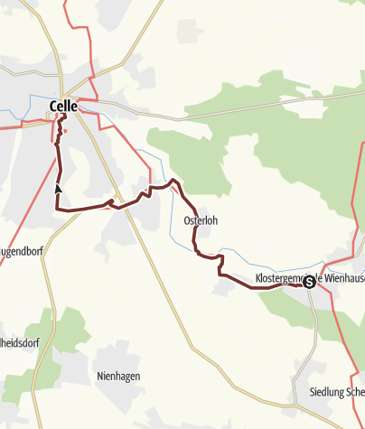 Karte / Via Scandinavica: Wienhausen - Celle