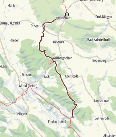 Karte / Via Scandinavica: Diekholzen - Winzenburg