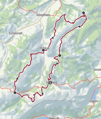 Map / UNESCO Biosphere Entlebuch moorland path