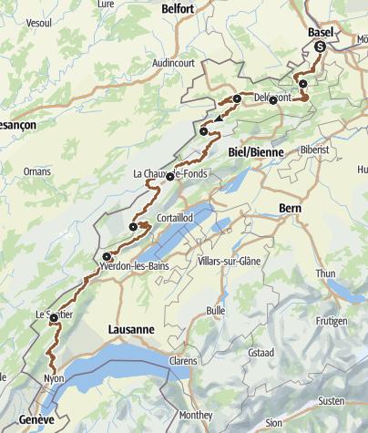 Mapa / MTB-Land Schweiz: 3 Jura Bike