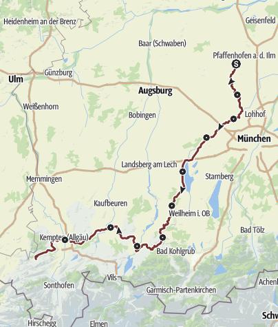 Karte / Münchener Jakobsweg