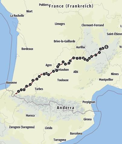 Karte / Via Podiensis