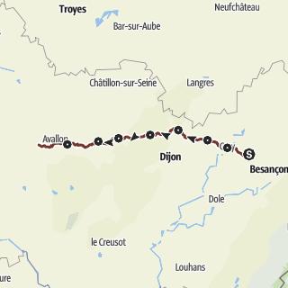 Vezelay France Map.Bouhans Et Feurg Online Travel Guide Outdooractive Com