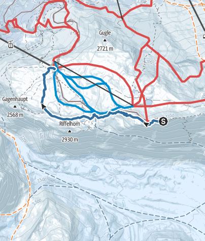 Karte / Vom Gornergrat zum Riffelberg