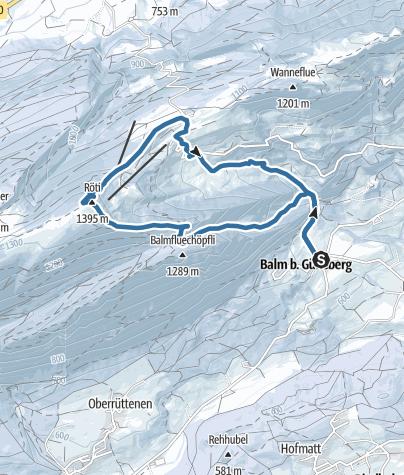 Map / Von Balm über die Röti zum Balmberg