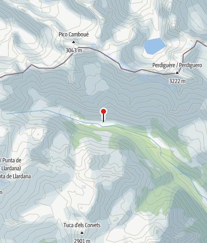 Karte / Refugio de Estós