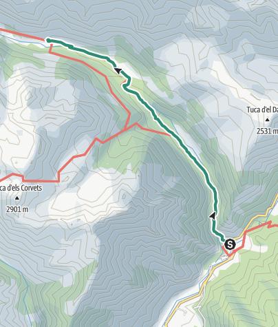 Map / Etappe 1 Benasque - Refugio Estór: 13.Tour der Partnerstädte Gernika - Vicenza - Pforzheim