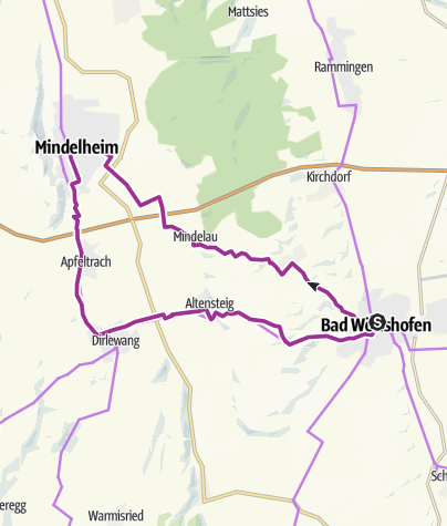 Karte / Frundsberg-Radweg