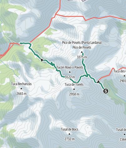 Map / Etappe 3 Refugio Angel Orus - de Biadós (Viados): 13.Tour der Partnerstädte Gernika-Vicenza-Pforzheim