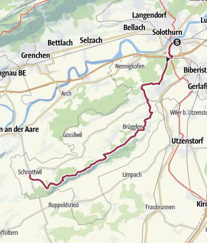 Map / Von Solothurn nach Schnottwil