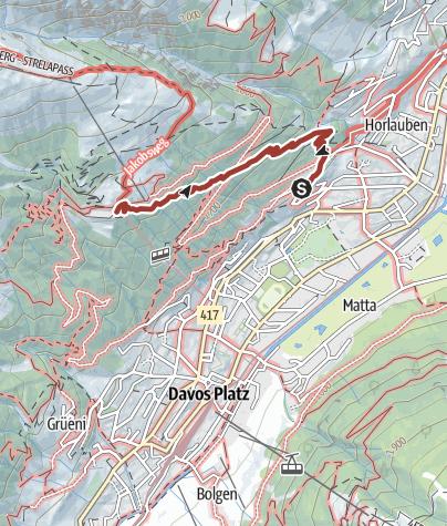 Karte / Thomas-Mann-Weg Davos