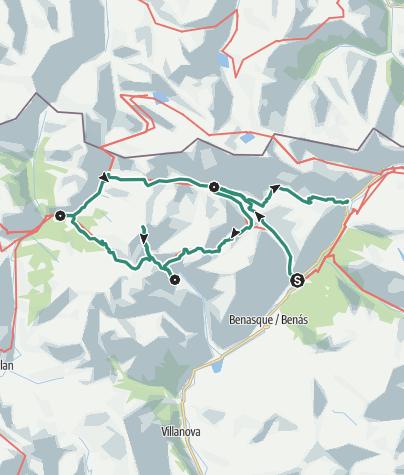 Map / Natural Park Posets Maladeta Pyrenees: Tour of the Partnet cities of Gernika-Vicenza-Pforzheim
