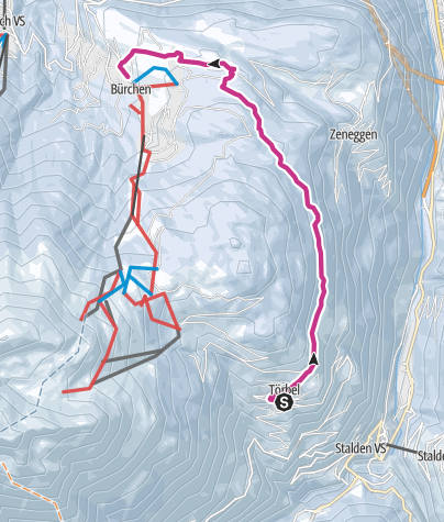 Map / Panorama-Winterwanderweg Moosalp