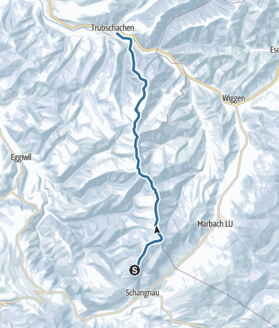 Karte / Von Schangnau auf den Rämisgummenhoger