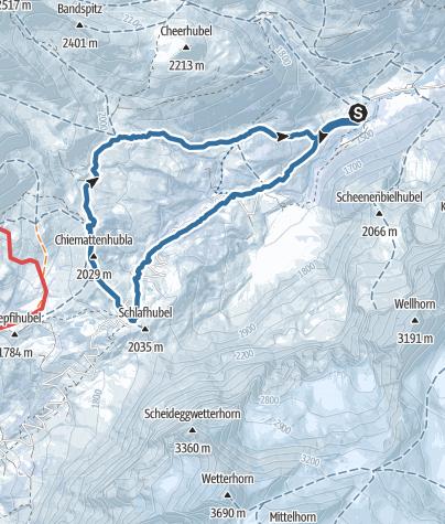 Map / Von der Schwarzwaldalp über die Grosse Scheidegg