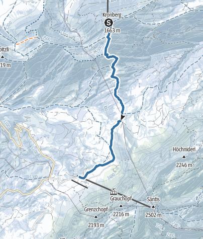 Karte / Vom Kronberg zur Schwägalp