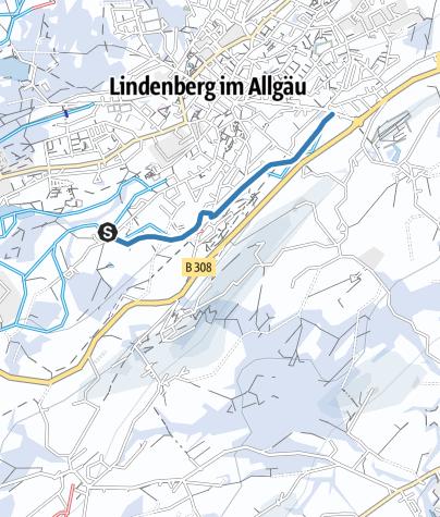 Map / Lindenberg Zustiegsloipe Lindenalpe - Hallenbad/Hansenweiherloipe