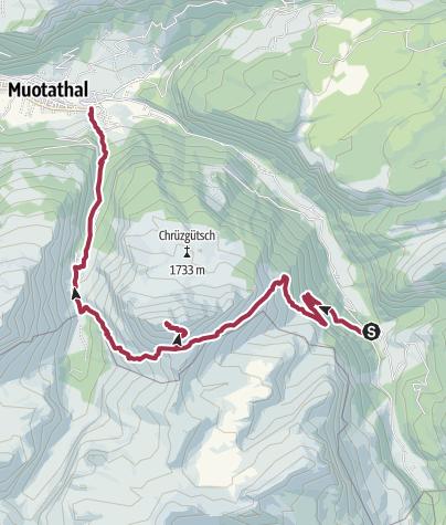 Karte / Auf den Muotataler Hausberg