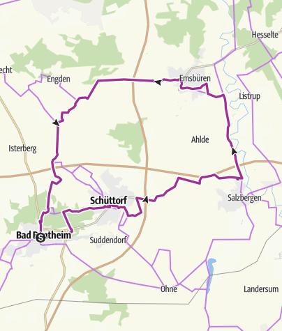 Map / Schüttorf - Mehringen - Emsbüren