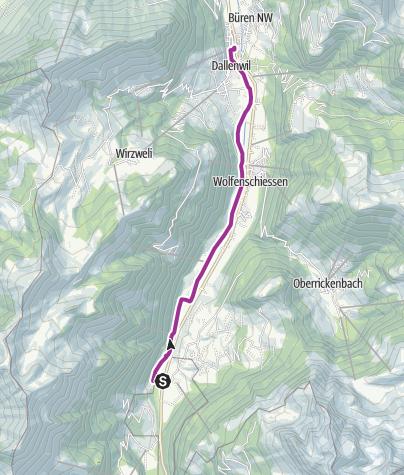 Carte / Aa d'Engelberg avec visite d'une ferme bio