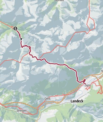 Cartina / Madau - Memminger Hütte - Zams