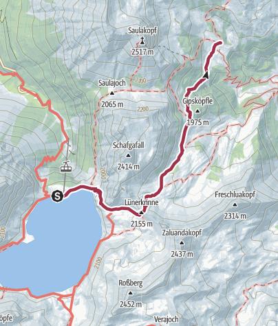 Map / Montafoner Hüttenrunde - Douglass-Hütte - Heinrich Hueter-Hütte