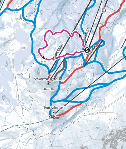 Carte / Rundweg Rossweid - Schwarzenegg - Rossweid in Sörenberg