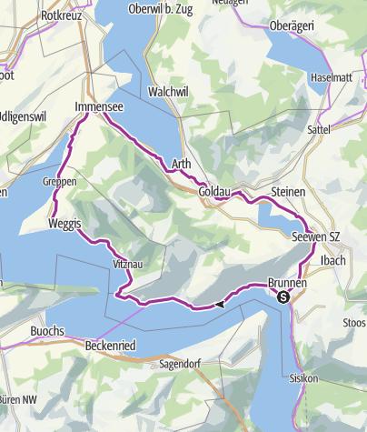 Karte / Rund um die Rigi