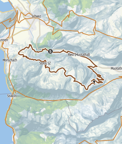 Karte / Fronalp-Tour - SchweizMobil Route 801