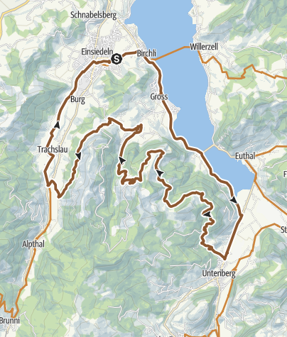 Karte / Hummel-Tour - SchweizMobil Route 970