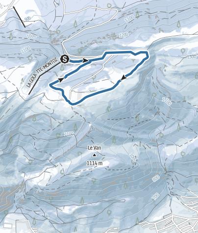 Karte / Von La Golatte über den Montoz