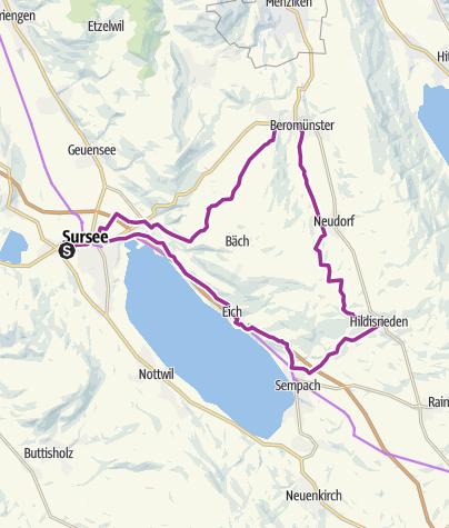 Karte / Kultur-Route: Sursee-Beromünster-Sursee