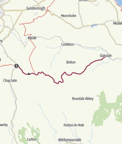 Karte / Great Broughton to Glaisdale (via Blakey Ridge)