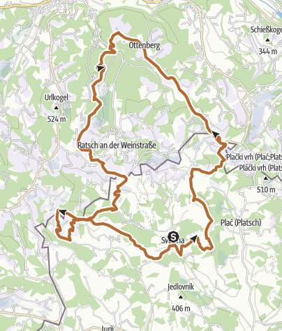 Map / Nordic Walking Vinotour - Blaue Strecke
