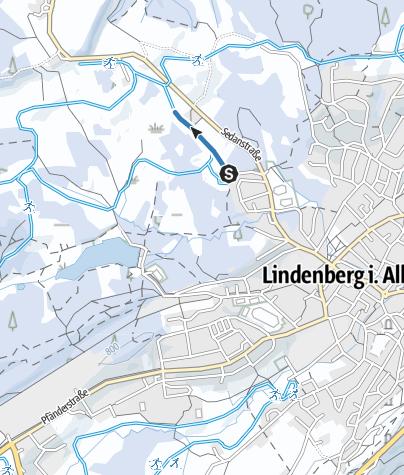 Map / Lindenberg Zustiegsloipe Spielermoos - Waldsee-Loipe