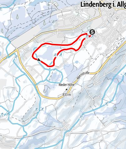 Karte / Lindenberg Hallenbad-Loipe