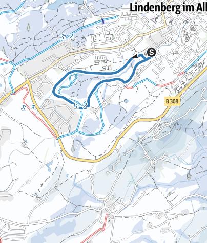 Map / Lindenberg Hallenbad-Loipe