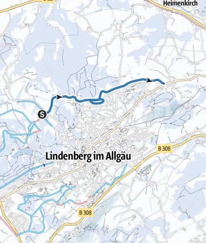 Map / Lindenberg Loipe Goßholz - Nadenberg - Krankenhaus - zur Waldsee-Loipe