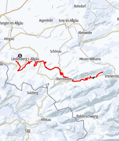 Karte / Lindenberg R53 Alpsee-Waldsee Loipe NEU