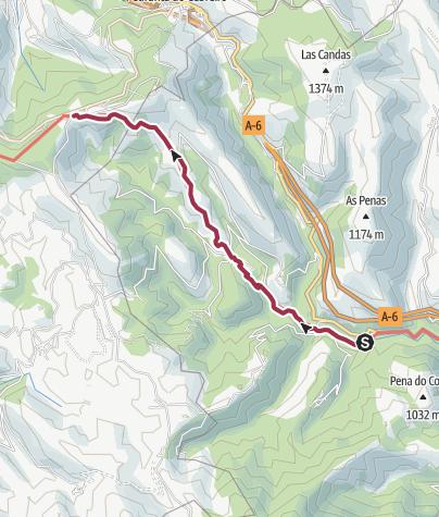 Cartina / Herrerias de Valcarce to O'Cebreiro
