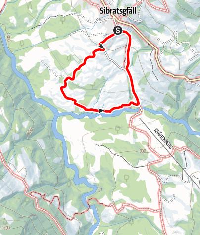 Karte / Sibratsgfäll | Tobelweg