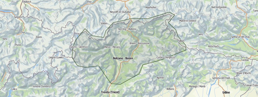 Karte / Wochenendtouren Südtirol