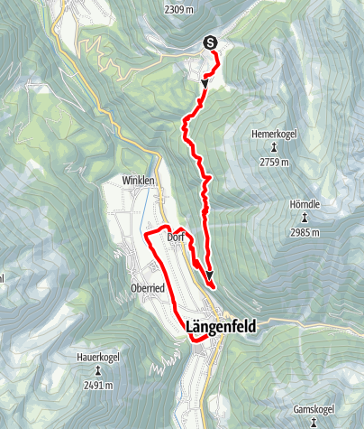 Map / Ötztaler Urweg E3 Niederthai - Gries