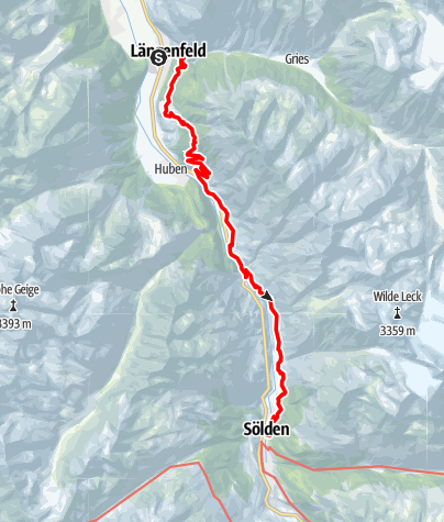 Map / Ötztaler Urweg E4 Gries - Sölden