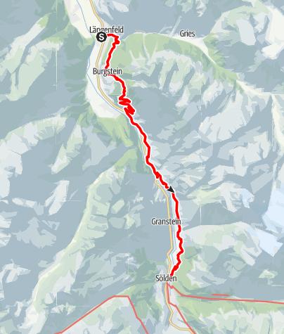 Karte / Ötztaler Urweg E4 Längenfeld - Sölden